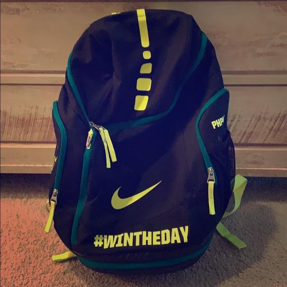 nike elite backpack yellow